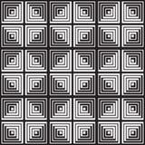 Svartvit abstrakt geometrisk modell optisk illusion Arkivbild