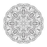 Svartvit abstrakt rund modell stock illustrationer