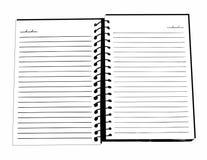 Svartvit anteckningsbok stock illustrationer