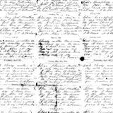 Svartvit antik skrifthandskriftbakgrund Arkivfoton