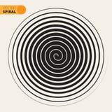 Svartvit Archimedean spiral linje designbeståndsdel för vektor Royaltyfria Foton