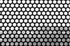 Svartvit bakgrund av ett raster av prickigt Modell av rund håltappningstil Foto för webbplatsglidare vektor illustrationer