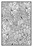 Svartvit bakgrund för färgläggningbok Stock Illustrationer