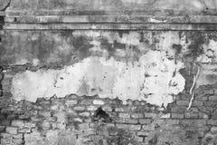 Svartvit bakgrund för gammal konkret tappningvägg Royaltyfri Fotografi