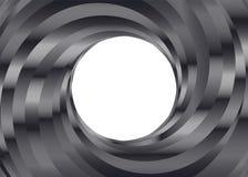 Svartvit bakgrund för metallfärgvirvel Arkivfoton