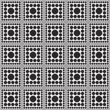 Svartvit beträffande polkaDot Square Abstract Design Tile modell Royaltyfria Foton