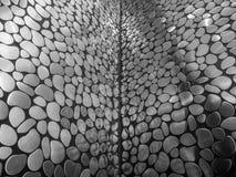 Svartvit bild för bakgrund, abstrakt konstnärlig design för mosaisk modell arkivbilder