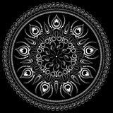 Svartvit blom- prydnad Arkivfoton