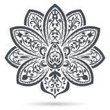 Svartvit blommabeståndsdel Arkivbilder