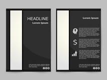 Svartvit broschyrdesign vektor illustrationer
