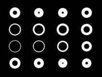 Svartvit cirkelanimering arkivfilmer
