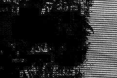 Svartvit closeup för Grunge av avriven tygtextur Royaltyfria Foton