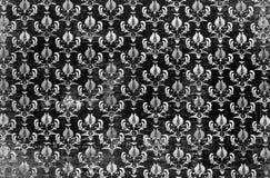 Svartvit damast tapet Royaltyfri Foto