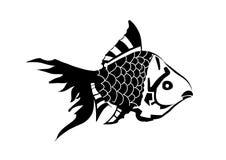 Svartvit fisk Royaltyfri Fotografi
