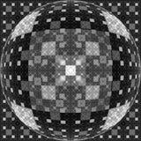 Svartvit flerdimensionell illusion för fractalkonstverk 3D Arkivfoton