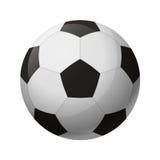 Svartvit fotbollboll för läder Royaltyfri Illustrationer