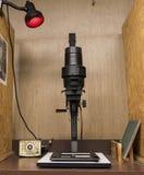 Svartvit fotografiförstoringsapparat Royaltyfria Bilder