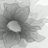 Svartvit frodig blomma stock illustrationer