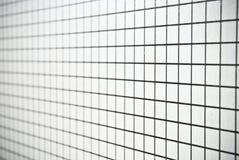 Svartvit fyrkant kontrollerad pappers- bakgrund eller textur Royaltyfri Bild