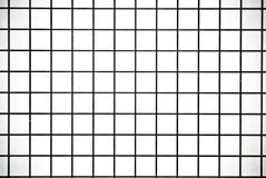 Svartvit fyrkant kontrollerad pappers- bakgrund eller textur Royaltyfria Foton