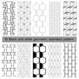 svartvit geometrisk sömlös modell 10 Arkivbild