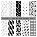 svartvit geometrisk sömlös modell 10 Arkivfoton