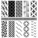 svartvit geometrisk sömlös modell 10 Arkivbilder