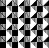 Svartvit geometrisk sömlös modell, abstrakt bakgrund Royaltyfri Foto