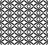 Svartvit geometrisk sömlös modell, abstrakt bakgrund Royaltyfri Fotografi