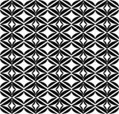 Svartvit geometrisk sömlös modell, abstrakt bakgrund Royaltyfria Bilder