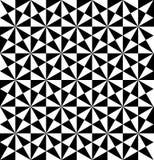 Svartvit geometrisk sömlös modell med triangeln, abstra vektor illustrationer