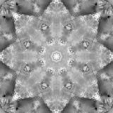 Svartvit gråtonMandala med handgjord textur för konst Arkivfoto