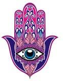 Svartvit hand av Fatima ocks? vektor f?r coreldrawillustration royaltyfria bilder