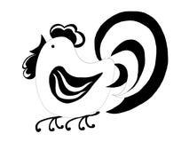 Svartvit hane Royaltyfri Fotografi