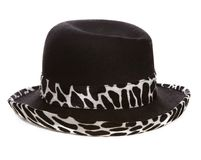 Svartvit hatt royaltyfri fotografi
