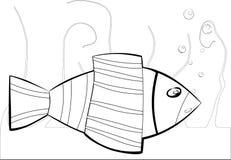 Svartvit havsfisk Fotografering för Bildbyråer