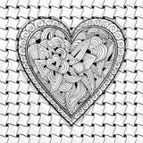 Svartvit hjärtamodell för vektor Arkivbilder