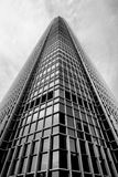 Svartvit Hong Kong modern arkitektur Arkivfoto