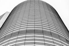 Svartvit Hong Kong modern arkitektur Royaltyfri Foto