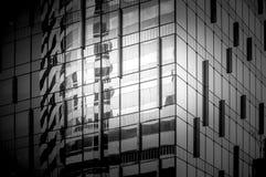 Svartvit Hong Kong modern arkitektur Royaltyfri Bild