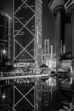 Svartvit Hong Kong modern arkitektur Arkivbilder