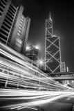 Svartvit Hong Kong modern arkitektur Royaltyfri Fotografi
