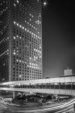 Svartvit Hong Kong modern arkitektur Arkivfoton