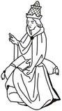 Svartvit illustration av en katolsk påve Boniface VIII Royaltyfria Bilder