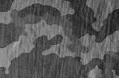 Svartvit kamouflagetorkdukeyttersida Arkivbild