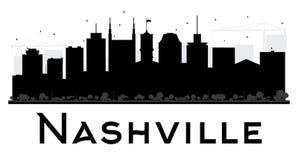 Svartvit kontur för Nashville stadshorisont