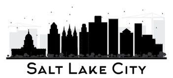 Svartvit kontur för Salt Lake City stadshorisont royaltyfri illustrationer