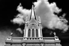 Svartvit kyrka Arkivfoton