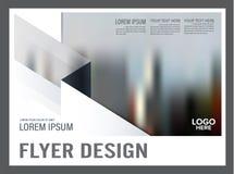 Svartvit mall för broschyrorienteringsdesign _ Royaltyfria Bilder
