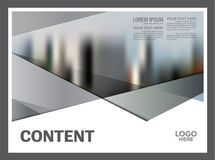 Svartvit mall för broschyrorienteringsdesign Bakgrund för presentation för räkning för årsrapportreklambladbroschyr modern vektor illustrationer